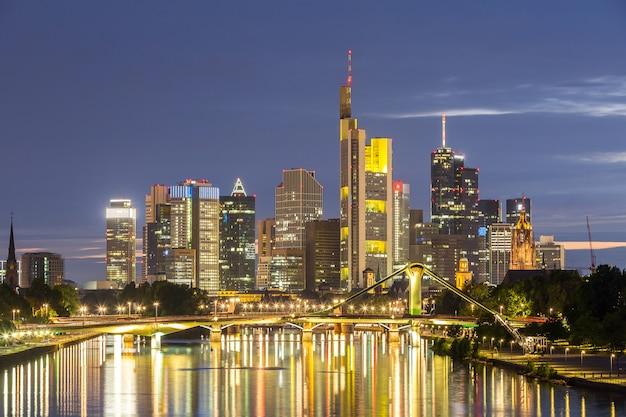 Germania skyline di francoforte