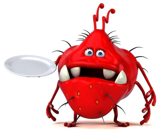 Germe divertente - illustrazione 3d