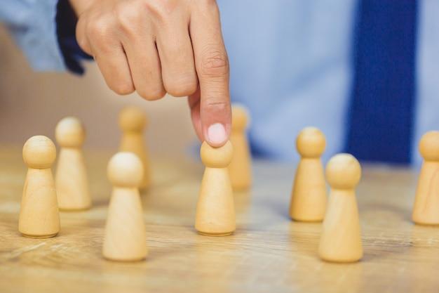 Gestione delle risorse umane, ricerca di uomini d'affari talent with successful.