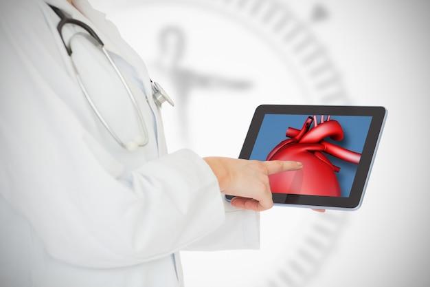 Gesto commovente digitale della medicina del computer della compressa commovente digitalmente
