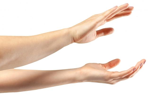 Gesto della mano femminile