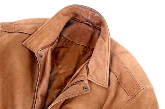 Giacca di pelle marrone classic