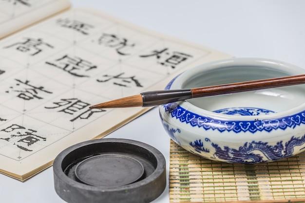 Giappone pietra orientale giapponese scrittura pennello