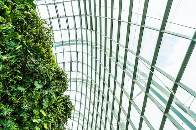 Giardino della cupola del fiore e foresta della serra per il viaggio