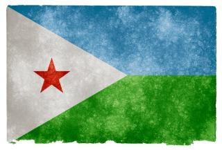 Gibuti grunge vecchia bandiera