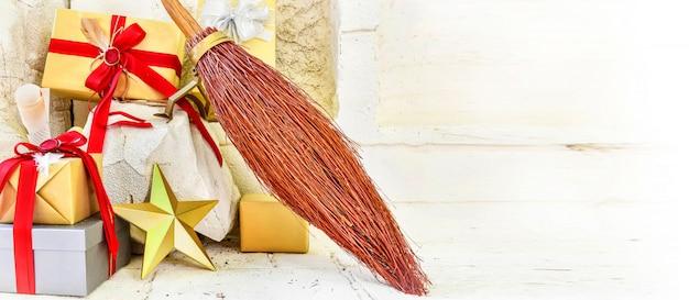 Gift boxes regali di decorazione natalizia, celebrazione di capodanno