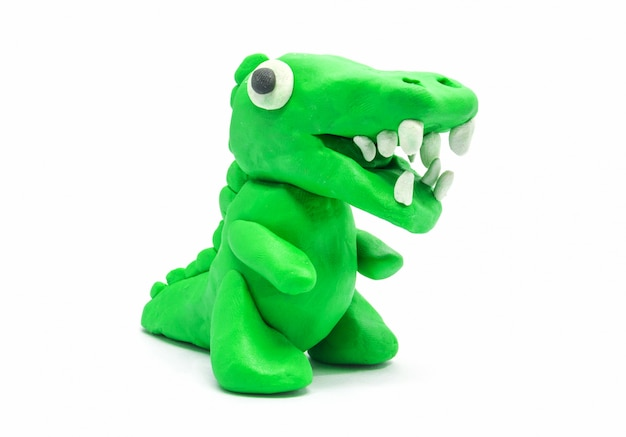 Gioca a doh tyrannosaurus su sfondo bianco