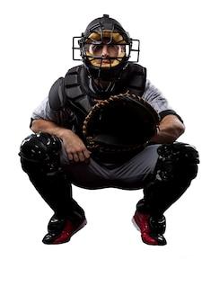 Giocatore di baseball catcher ,.