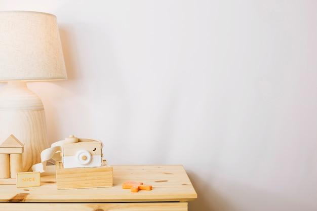 Giocattoli di legno in vivaio