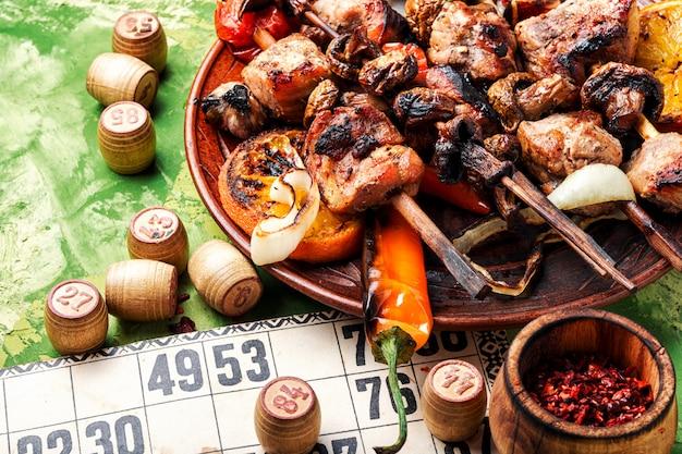 Gioco di carne e lotto barbecue
