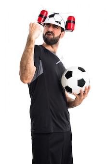 Gioco di felicità bianca adulto calcio