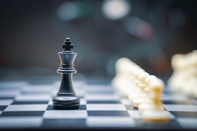 Gioco di scacchi per concetti di leadership