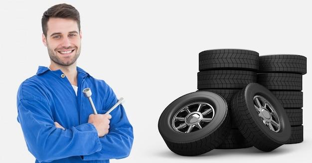 Gioia auto sorridente chiave occupazione