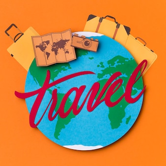 Giornata mondiale del turismo con scritte