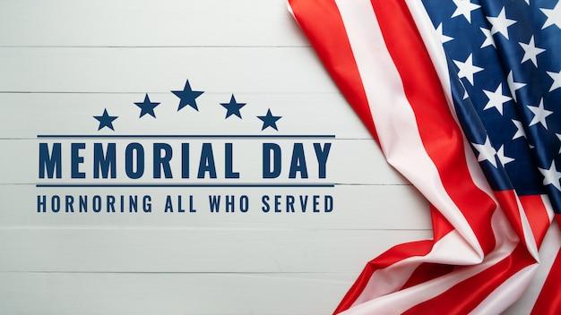 Giorno dei caduti usa e concetto di festa dell'indipendenza, bandiera degli stati uniti d'america