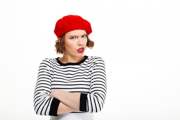 Giovane donna arrabbiata scontenta