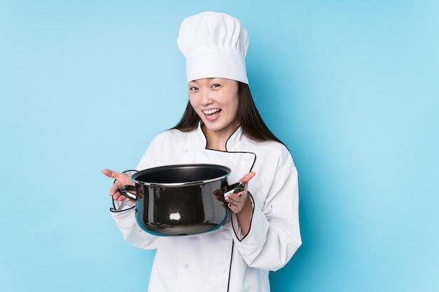 Giovane donna giapponese chef di cucina