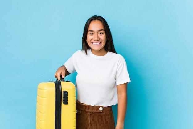 Giovane donna indiana nervosa per fare un nuovo viaggio
