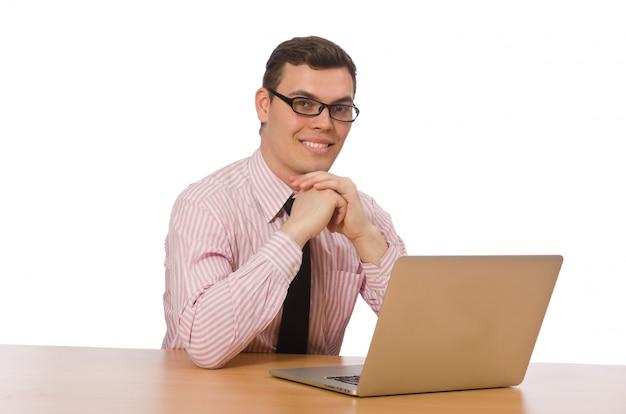Giovane imprenditore isolato