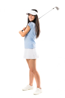Giovane ragazza asiatica del giocatore di golf