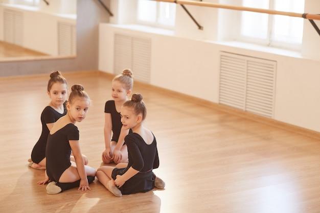 Girls in dance studio