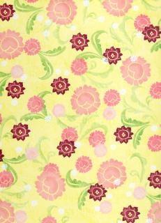 Girly carta gialla floreale