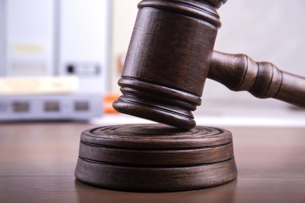 Giudice gavel come concetto di giustizia.