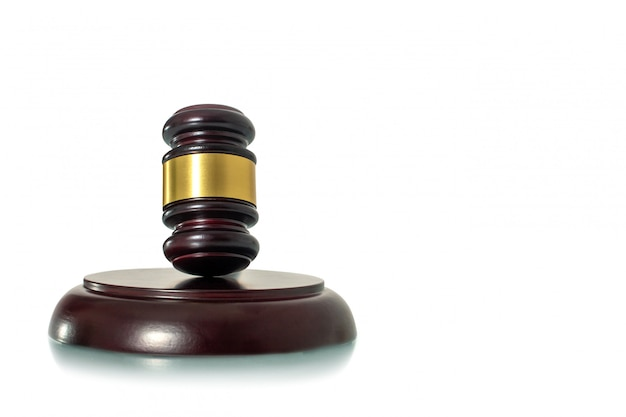 Giudice martelletto isolato