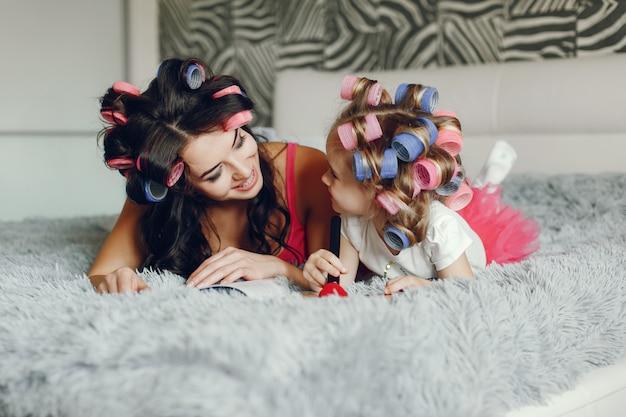Glamour madre con figlia
