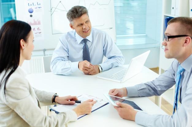 Gli imprenditori che lavorano insieme