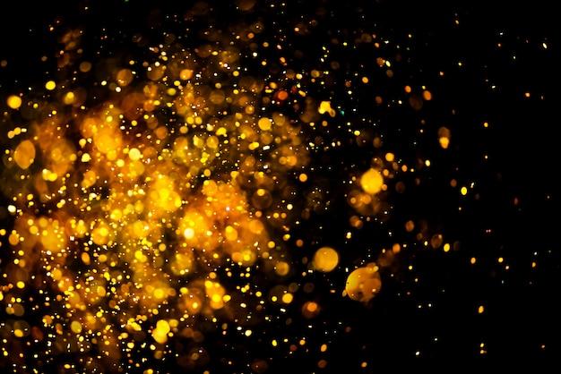 Glitter oro bokeh colorfull offuscata sfondo astratto