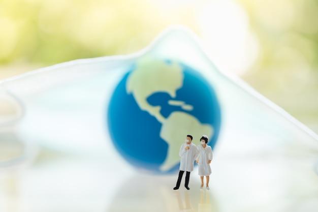 Global healthcare, coronavirus, covid-19 protection concept