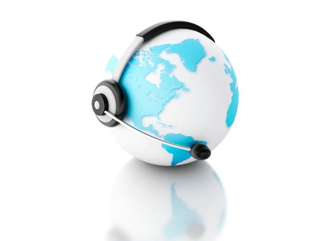 Globo terrestre. concetto di comunicazione globale