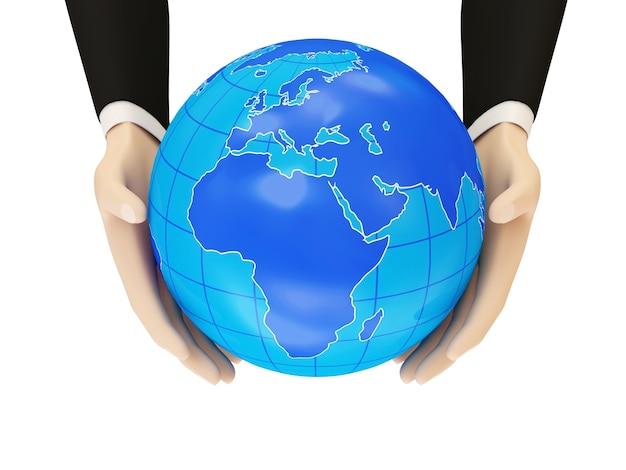 Globo terrestre nelle mani