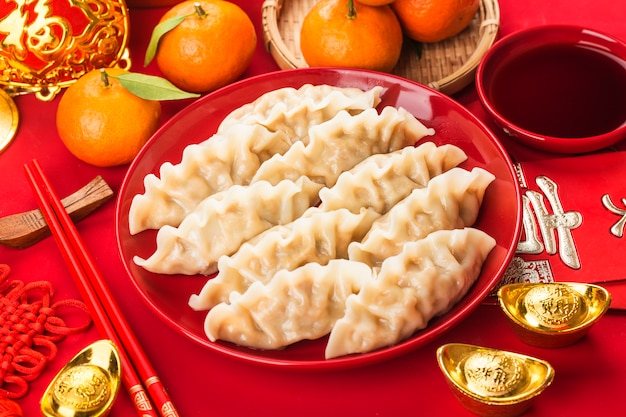 Gnocchi con mandarini e salsa di soia