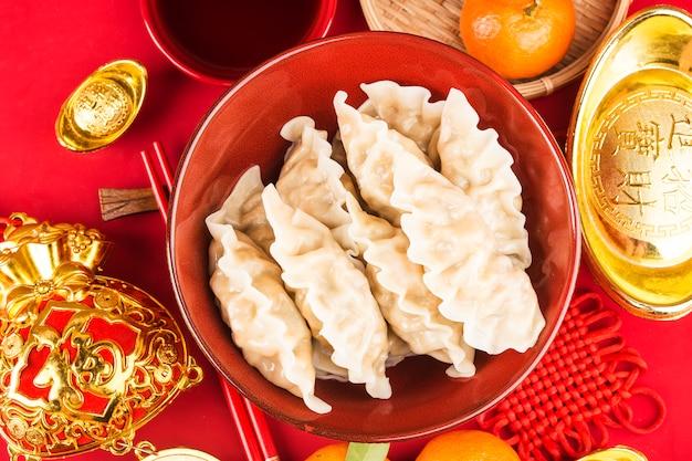 Gnocchi per il festival di primavera cinese benedizione cinese di grande fortuna
