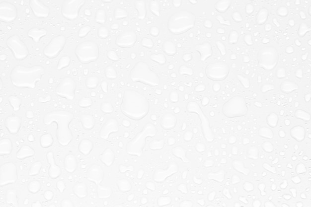 Gocce di acqua astratte su uno sfondo bianco