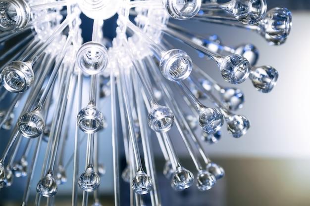 Gocce di vetro congelate sfondo di vetro astratto.