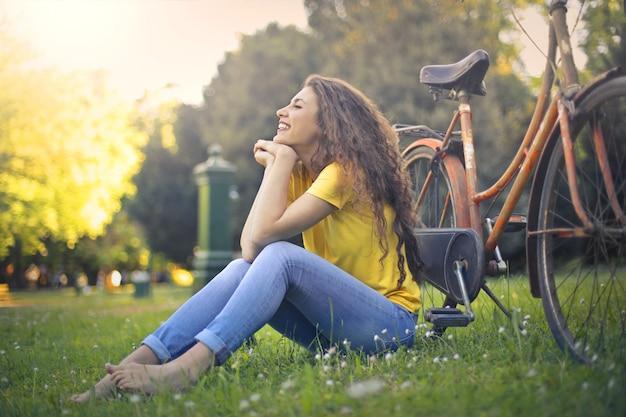 Godersi una giornata di sole primaverile