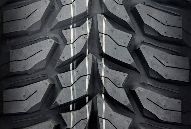 Gomma di automobile, primo piano di struttura della gomma.