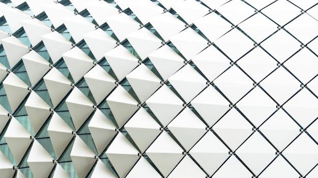 Gradiente bianco di rettangolo del modello piegato quadrato astratto di rettangolo