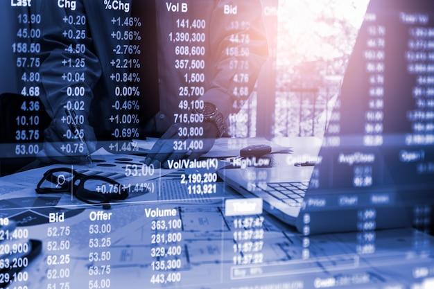 Grafico commerciale forex per il concetto di investimento finanziario