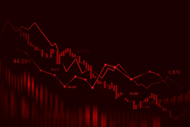 Grafico del mercato azionario o forex