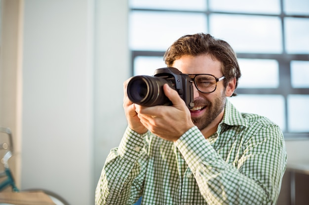 Grafico facendo clic sulla foto dalla fotocamera digitale