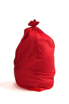 Grande borsa rossa di babbo natale