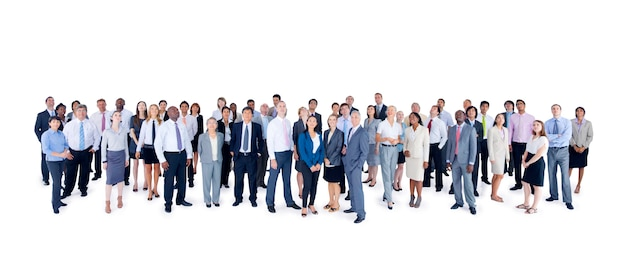 Grande gruppo di uomini d'affari