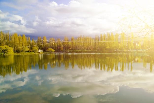 Grande lago nel parco