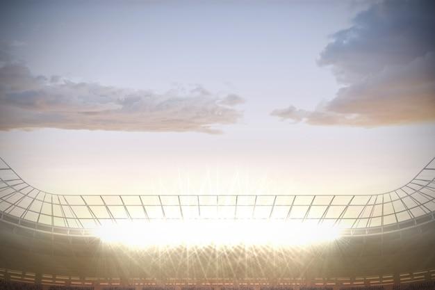 Grande stadio di calcio con riflettori