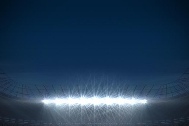 Grande stadio di calcio sotto il cielo blu