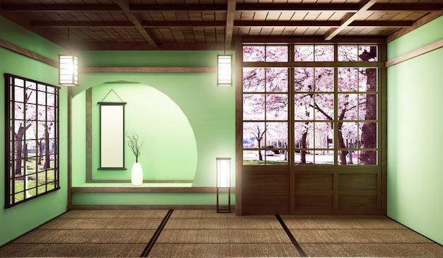 Grande stanza molto di lusso in stile zen